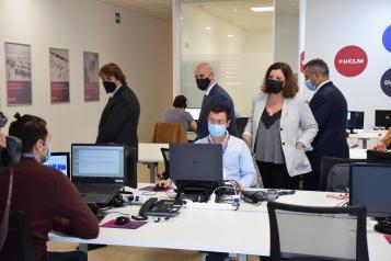 La consejera de Economía, Empresas y Empleo, Patricia Franco, inaugura las nuevas instalaciones de la empresa 'Zelenza' en Ciudad Real.