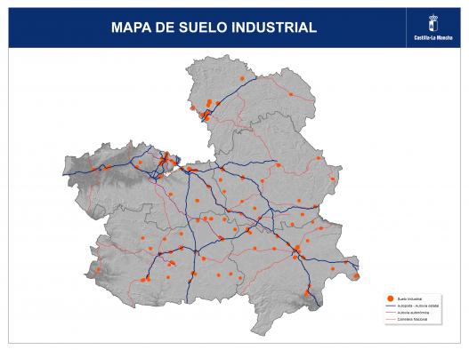 MAPA DE SUELO INDUSTRIAL  Gobierno de CastillaLa Mancha