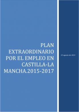 Plan extraordinario por el empleo en Castilla-La Mancha 2015-2017