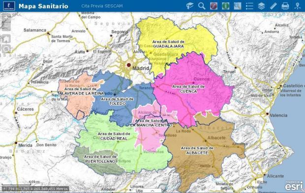 Mapa Sanitario de Castilla-La Mancha
