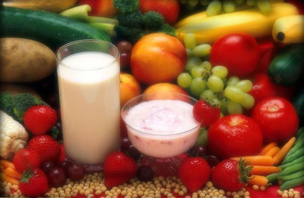 Resultado de imagen de frutas, hortalizas, leche y producto lacteo