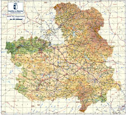 Mapa Provincia De Toledo Turismo.Catalogo Y Mapa De Carreteras De Castilla La Mancha