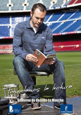 Imagen de la campaña de fomento de la lectura en la que colaboró Andrés Iniesta.