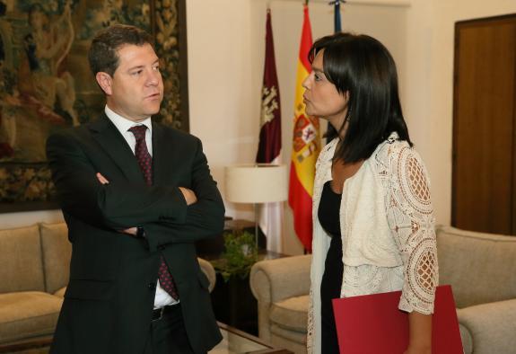 Reunión del presidente García-Page con la alcaldesa de Ciudad Real, Pilar Zamora