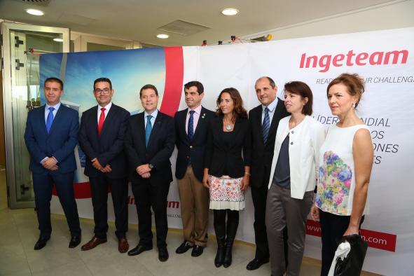 El presidente García-Page asiste inaugura la ampliación de la empresa INGETEAM de Albacete