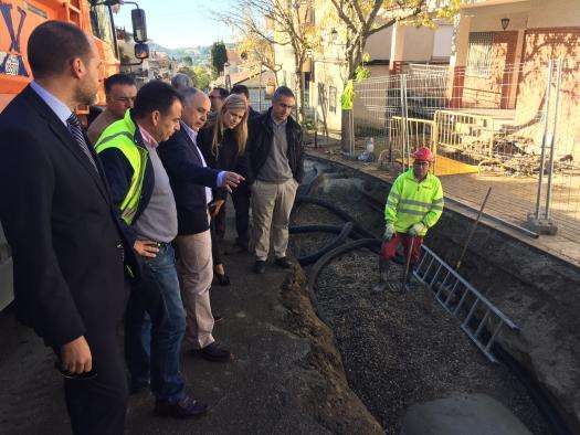 La Consejería de Fomento repara el colector hundido en El Real de San Vicente