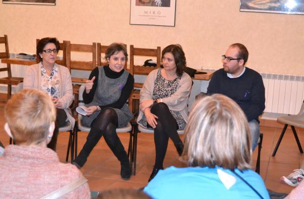 Araceli Martínez, directora del Instituto de la Mujer, en un acto en Torija
