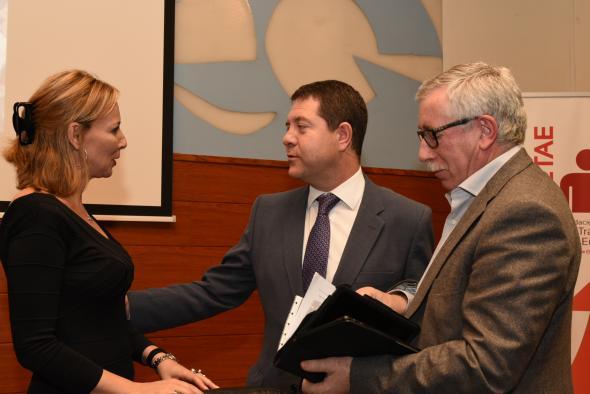 El presidente de Castilla-La Mancha, Emiliano García-Page, inaugura el congreso 'El emprendimiento como iniciativa' organizado por la Unión de Asociaciones de Trabajadores Autónomos y Emprendedores (UATAE)
