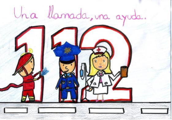 Una alumna de 6º curso de Primaria del CEIP 'Ferroviario' de Ciudad Real gana el IV Concurso de Dibujo del 112