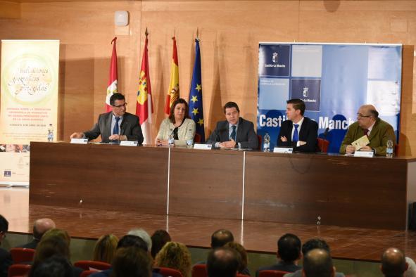 l presidente de Castilla-La Mancha, Emiliano García-Page, inaugura en la Fábrica de Harinas de Albacete, las I Jornadas Regionales sobre Indicaciones Geográficas Protegidas No Alimentarias (IGPs)