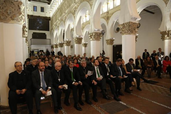 Inauguración de la iluminación de la sinagoga de Santa María la Blanca (Toledo)