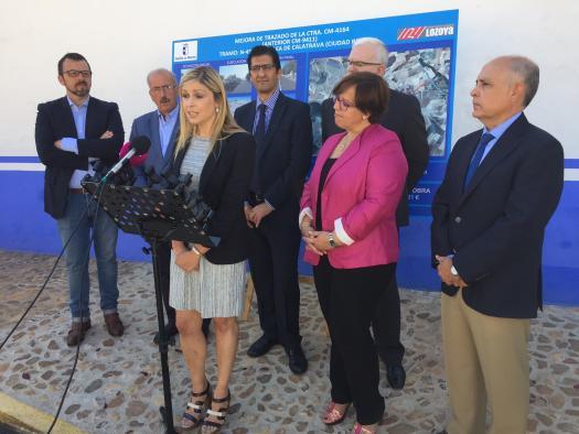 El Gobierno regional concluye la carretera de Alcolea de Calatrava cinco años después de paralizarse su ejecución