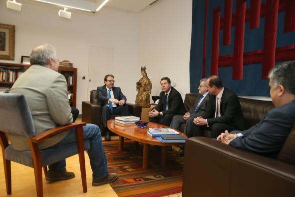 Reunión con el rector de la Universidad de Alcalá