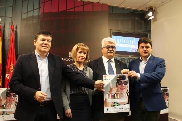 Presentación del XXI Campeonato Regional de Natación organizado por FECAM