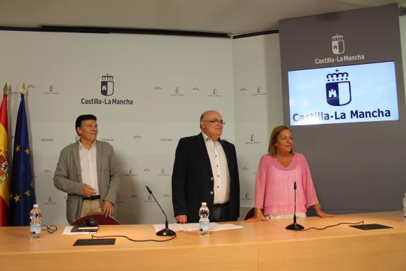 Ruiz Santos en la rueda de prensa del inicio del curso escolar en Albacete 2017-2018
