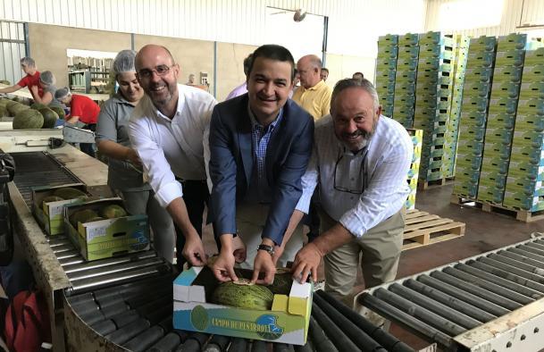 El Gobierno regional destaca el impulso del sector del melón ante el final de la campaña y la buena rentabilidad para sus agricultores