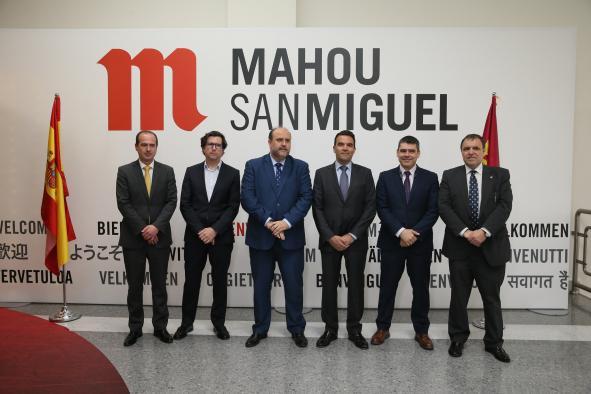 El Gobierno regional valora positivamente las nuevas inversiones del grupo Mahou-San Miguel en Castilla-La Mancha