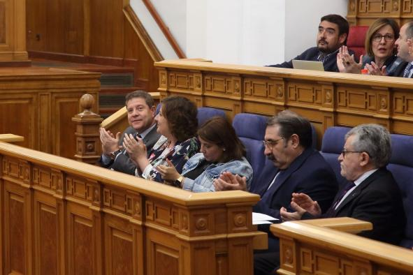 La consejera de Fomento ha intervenido en el Pleno de las Cortes de Castilla-La Mancha