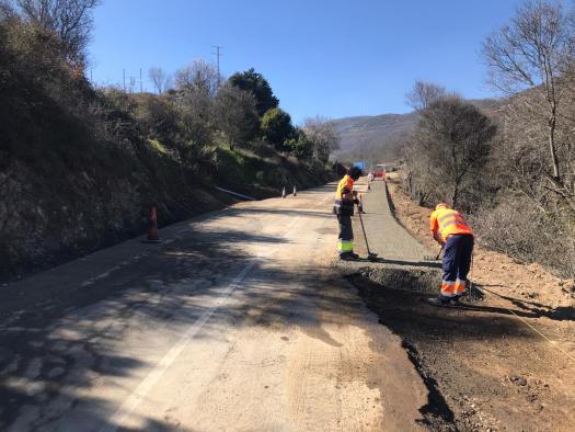 El Gobierno regional avanza en el Plan de Carreteras de la Sierra de San Vicente