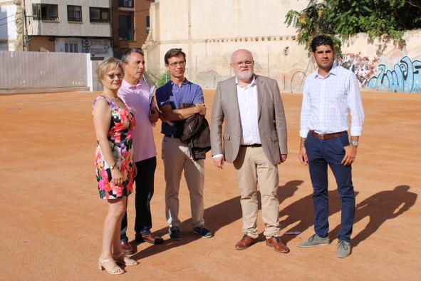 """Visita a la obra RAM del CEIP """"Reina Sofía"""" de Albacete capital"""