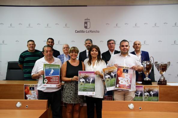 La directora general de Juventud y Deportes, Noelia Pérez, presenta las finales del Trofeo Junta de Comunidades de Castilla-La Mancha de fútbol, fútbol sala y baloncesto