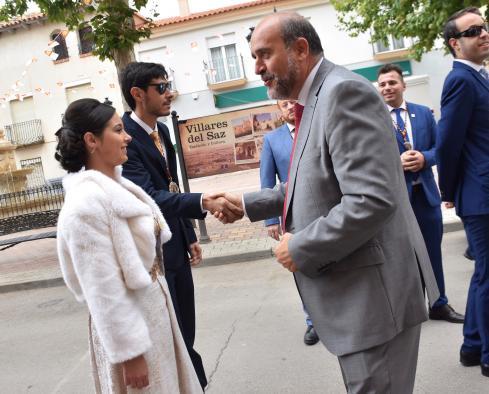 El vicepresidente asiste a las fiestas de Exaltación de la Santa Cruz en Villares del Saz (Cuenca)