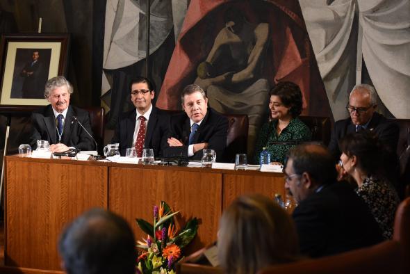 Acto de ingreso de José María Barreda en el Instituto de Estudios Manchegos (IEM)