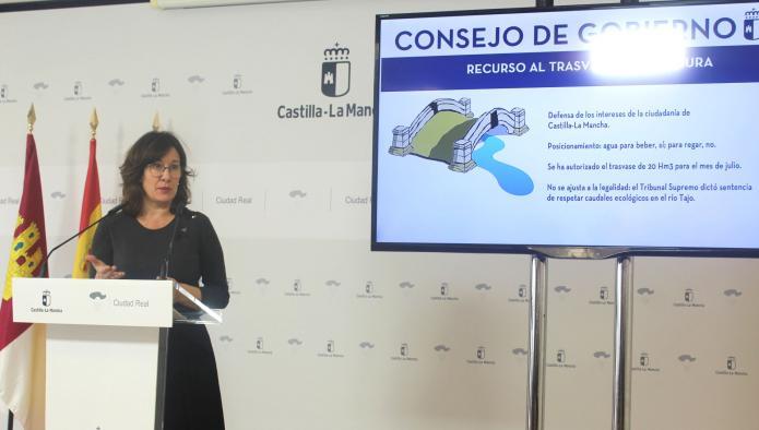 Castilla-La Mancha volverá a defender sus intereses hídricos recurriendo el trasvase de 20 hectómetros cúbicos autorizado para el mes de julio