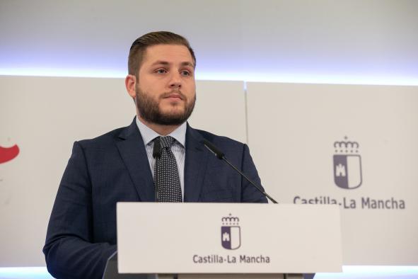 El consejero de Fomento, Nacho Hernando, ha ofrecido una rueda de prensa para informar de asuntos relacionados con el Consejo de Gobierno