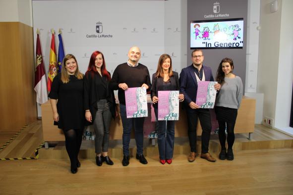 La directora del Instituto de la Mujer, Pilar Callado, presenta la campaña de sensibilización de la Asociación In Género dirigida a mujeres víctimas de trata con fines de explotación sexual