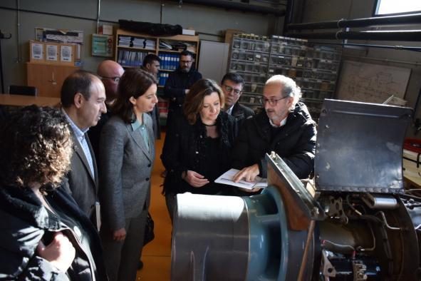 La consejera de Economía, Empresas y Empleo, Patricia Franco, visita el Centro integrado de Formación Profesional Aguas Nuevas