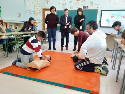 Más de 70 centros educativos, 13.600 estudiantes y 1.132 docentes de la provincia de Toledo participan este año en los cursos del programa regional 'La Reanimación Cardiopulmonar en las Escuelas'