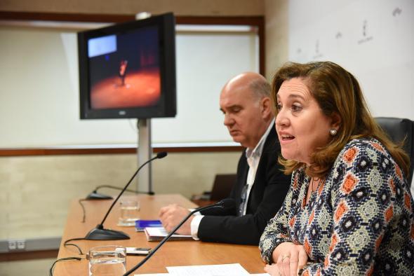 La consejera de Educación, Cultura y Deportes, Rosa Ana Rodríguez, ofrece una rueda de prensa en la que informará sobre la celebración del Congreso 'Exducere'