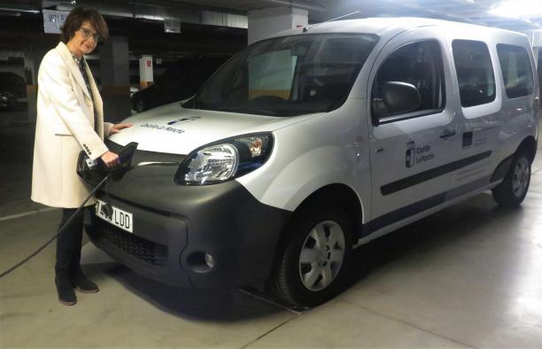 Adquirido el primer vehículo 100 por cien eléctrico del parque móvil de la Junta de Comunidades de Castilla-La Mancha