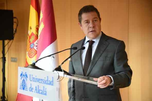 Reunión con el rector de la Universidad de Alcalá, José Vicente Saz, y el alcalde de Guadalajara, Alberto Rojo, en la Facultad de Educación de Guadalajara