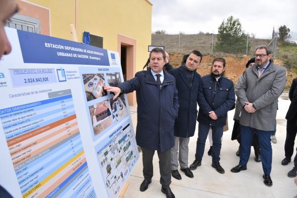 Inauguración y visita de la depuradora de Sacedón