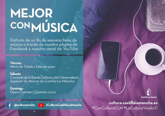 El Gobierno regional ofrece 84 actuaciones online de artistas de Castilla-La Mancha este fin de semana