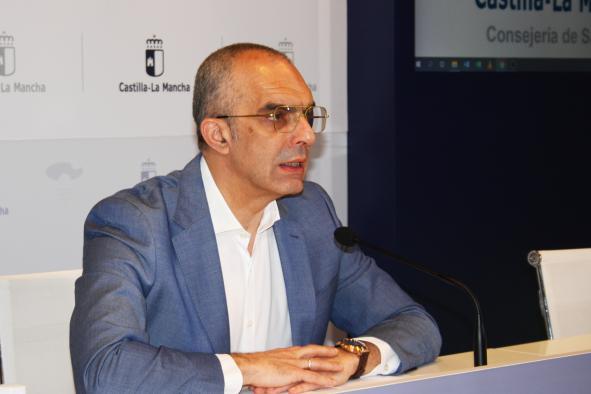 El director general de Salud Pública, Juan Camacho, informa,  sobre la incidencia del contagio por coronavirus en Castilla-La Mancha (12 mayo)