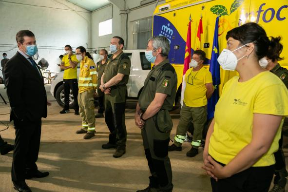 Visita a las instalaciones del Centro Operativo Provincial (COP) en Cuenca
