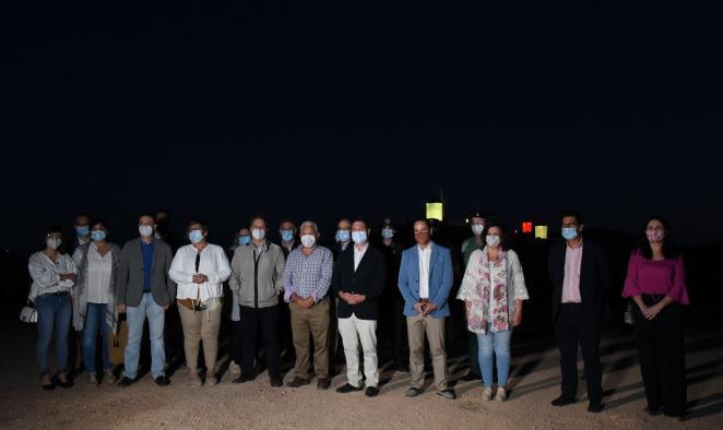 Inauguración de la nueva iluminación de los molinos de Herencia