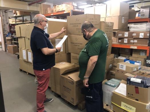 Los centros sanitarios de la provincia de Toledo reciben más de 117.000 artículos de protección y otros 2.000 test rápidos