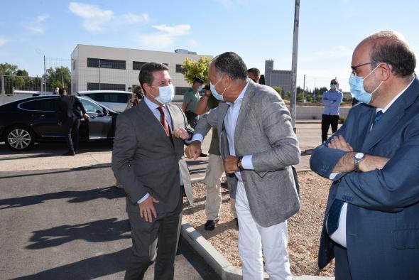 Inauguración de la helisuperficie del Sescam en el Centro de Especialidades Médicas de Tarancón (I)
