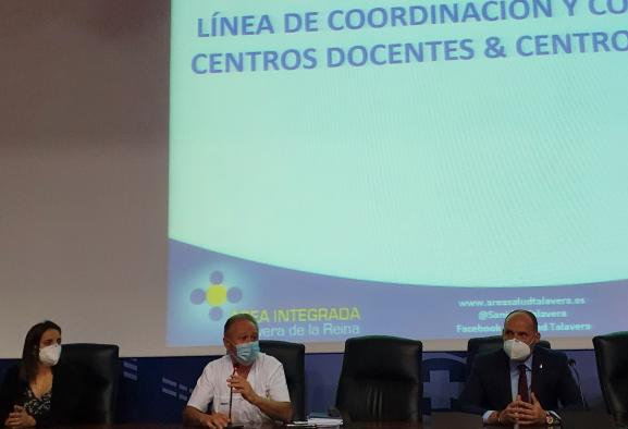 El Gobierno regional impulsa la coordinación sobre Covid-19 entre los centros educativos y la Gerencia del Área Integrada de Salud de Talavera