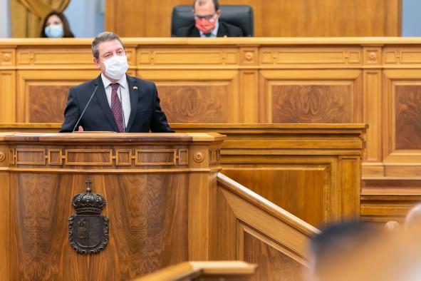 El presidente García-Page en el Debate sobre el Estado de la Región