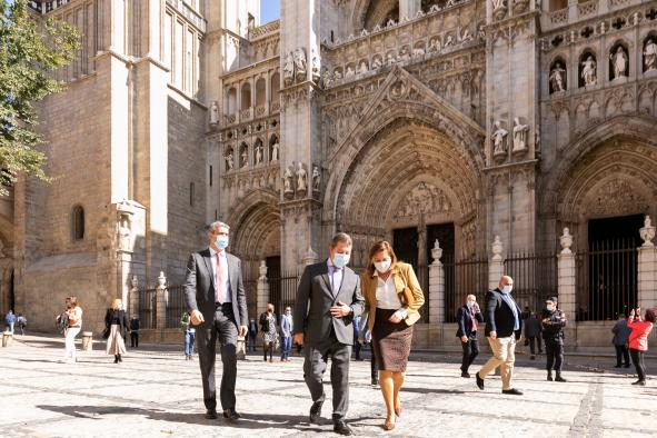 Inauguración de la restauración de la torre de la Catedral de Toledo