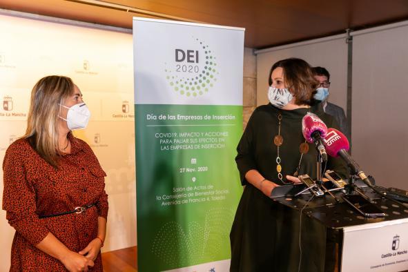 La consejera de Economía, Empresas y Empleo, Patricia Franco, inaugura el acto conmemorativo del Día de las Empresas de Inserción