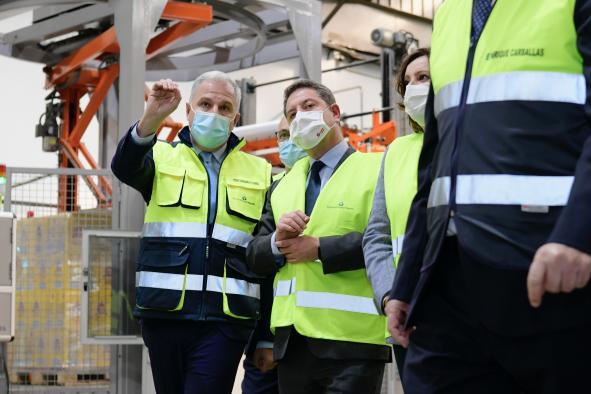Inauguración de las nuevas instalaciones de la empresa Pernod Ricard España en Las Labores (Ciudad Real)