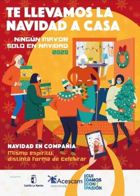 """El Gobierno de Castilla-La Mancha lleva el espíritu navideño a los hogares de los mayores con la campaña """"Navidad en compañía. Ningún mayor sólo en Navidad 2020"""""""
