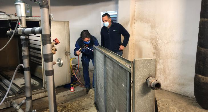 El Hospital de Toledo refuerza con dispositivos portátiles la climatización del centro en tanto se reparan las averías provocadas por las bajas temperaturas