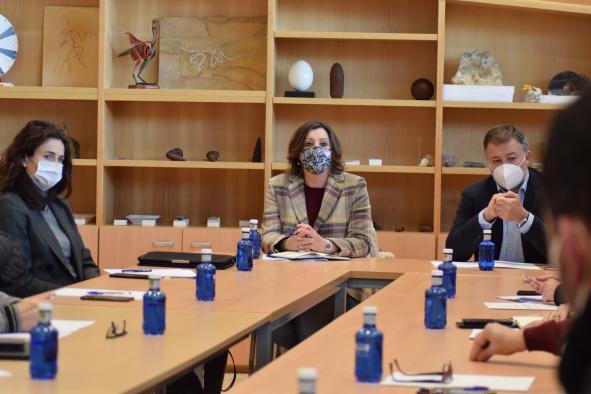 Patricia Franco se reúne con los miembros del comité de empresa de la factoría de Siemens Gamesa en Cuenca